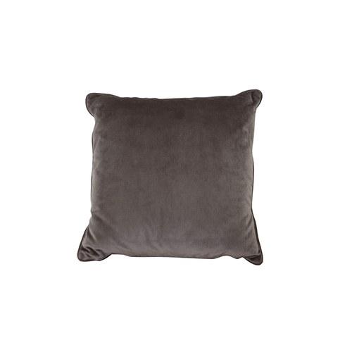 英國 Alexander&James 天鵝絨手工方形靠枕 (可可棕、43公分)