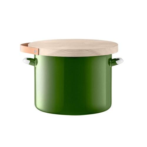 英國LSA 木蓋琺瑯儲物罐 (綠、直徑31公分)