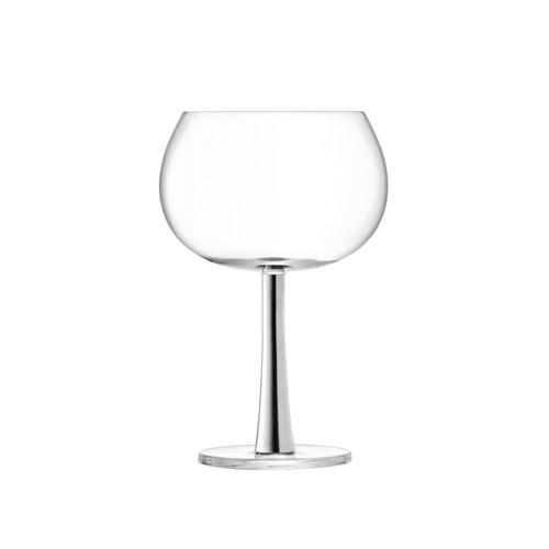 英國LSA 雞尾酒派對球型高腳杯2入組 (銀、420毫升)