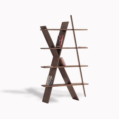 葡萄牙WEWOOD X造型展示書架 (核桃木)