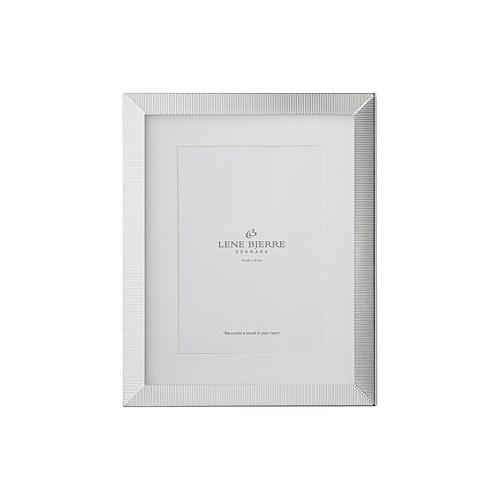 丹麥LeneBjerre 銀色密梳紋相框 (高26公分)