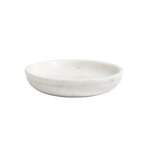 丹麥Nordal 大理石圓形托盤(白、直徑10公分)