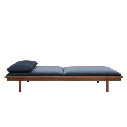 丹麥Sketch天鵝絨休憩坐臥兩用床(深藍)