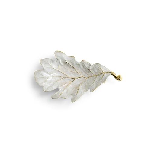 美國Michael Aram 紅櫟樹葉造型托盤 (冬日白)