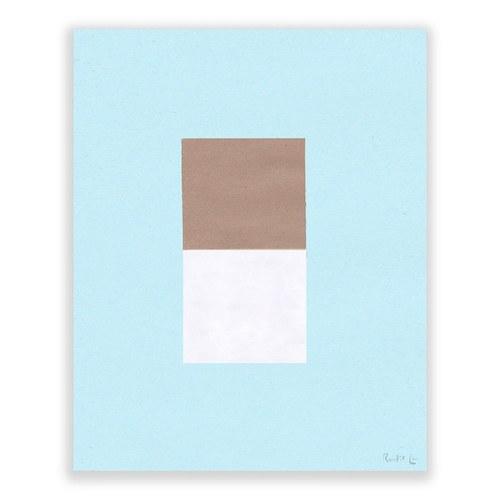 美國TwoPalms 峽谷流水方塊圖紋掛畫 (帆布、64公分)