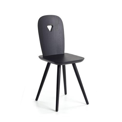 義大利HORM LaDina 簍空三角形單椅 (黑)