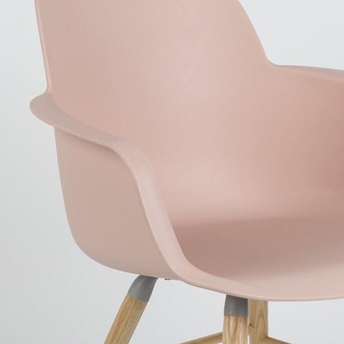 荷蘭Zuiver 艾伯特簡約弧形扶手椅 (淡粉)