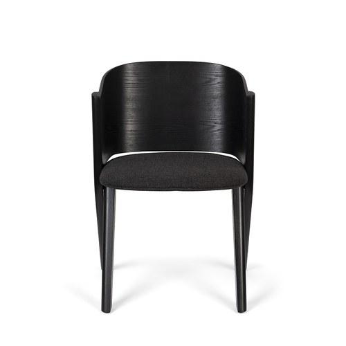 荷蘭Zuiver 曲木弧形背靠單椅 (黑)