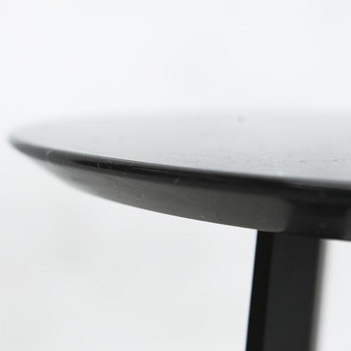 義大利HORM ALBINO FAMILY 大理石邊桌 (黑、直徑41公分)