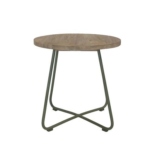 荷蘭Woven+ 探戈舞曲柚木邊桌 (青苔綠)