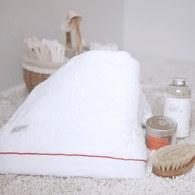 法國LaMaison 兔子系列紅線花邊浴巾