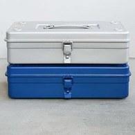 日本TRUSCO 可堆疊單層提把工具箱 (藍、37.3公分)