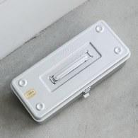 日本TRUSCO 可堆疊單層提把工具箱 (銀、37.3公分)