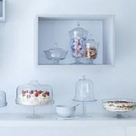 英國LSA 晶透玻璃派對點心杯 (高38公分)