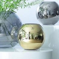 英國LSA 霓彩亮釉球形花瓶 太空金