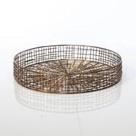 比利時Dome Deco 銅色扇片圓托盤