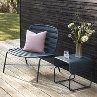 丹麥Hubsch 斑馬橫紋金屬休憩椅 (灰綠)