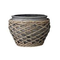 丹麥LeneBjerre 粗編織繩花盆 (直徑27公分)