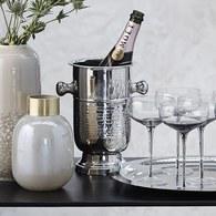 丹麥LeneBjerre 輕奢珍珠玻璃花器 (白、高20公分)