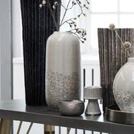 丹麥LeneBjerre 泡沫浪花陶瓷花器 (褐、高30公分)