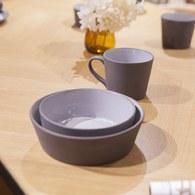丹麥Nordal仿石陶瓷餐碗(黑、直徑18公分)