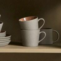 丹麥Nordal仿石陶瓷馬克杯(橘)x高9公分