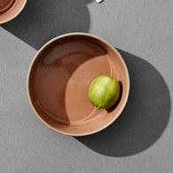 丹麥Nordal仿石陶瓷餐碗(橘、直徑16公分)x高5公分