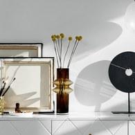 丹麥Nordal羅馬柱藝術玻璃花器(棕、高32公分)x高32公分