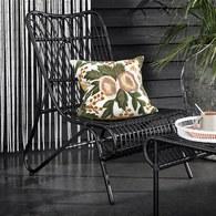 丹麥Nordal粉色花園刺繡靠枕