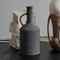 丹麥Nordal 手作風質樸花器 (深灰)