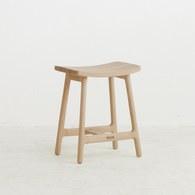 丹麥Sketch 微波浪造型單椅 (橡木、高48公分)