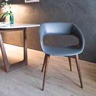 義大利OliverB 現代風流線懸空單椅 (胡桃木)