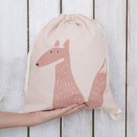 西班牙Nobodinoz有機棉 輕巧出遊防水兒童背包 (狐狸)