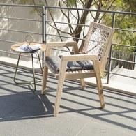 荷蘭Woven+ 繩編附墊單人扶手椅