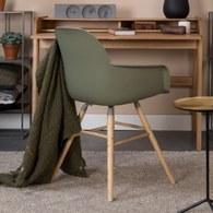 荷蘭Zuiver艾伯特簡約弧形扶手單椅(橄欖綠)