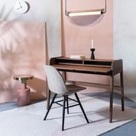 荷蘭Zuiver 木質活動式收納書桌 (胡桃木)