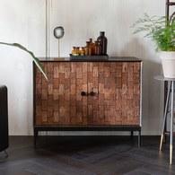 荷蘭Zuiver 木雕刻花儲物邊櫃