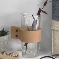 泰國DesignersField 原色皮革玻璃杯