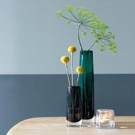 英國LSA 植粹弧線型花器 (森林綠、高30公分)