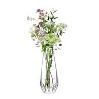 英國LSA 現代感玻璃雕刻花器 (高19.5公分)