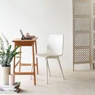 丹麥Sketch 簡約木作L型單椅 (白)