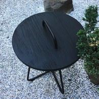 荷蘭Woven+ 森巴舞曲柚木邊桌 (黑)