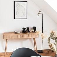 荷蘭Zuiver 木質拉門收納邊桌