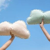 西班牙Nobodinoz有機棉 棉花糖雲朵靠枕 (夢幻粉)
