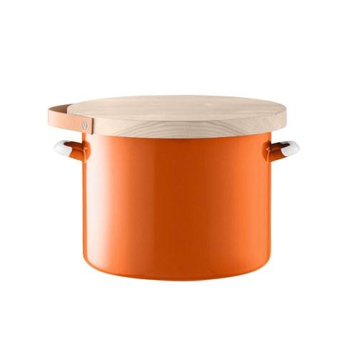 英國LSA 木蓋琺瑯儲物罐 (橘、直徑31公分)