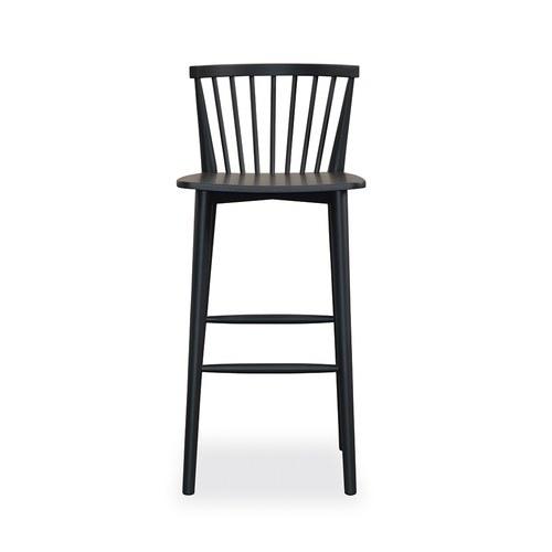 丹麥Sketch 鏤空椅背高腳吧台椅 (黑)