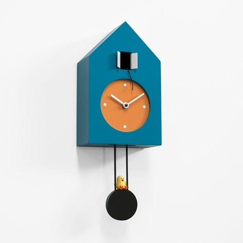 義大利 Progetti 鞦韆小雞掛鐘 (藍)