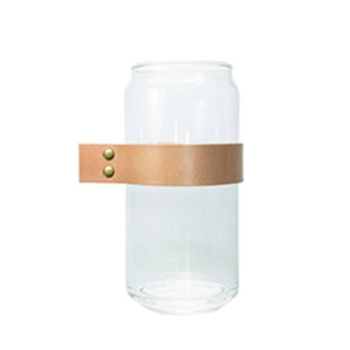 泰國DesignersField 原色皮革玻璃罐 (粗帶款)