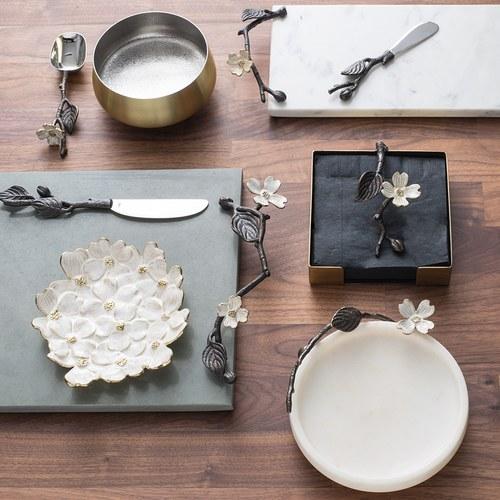 美國MichaelAram工藝飾品 山茱萸系列造型飾品盤