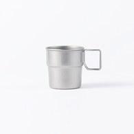 日本Aoyoshi 戶外露營堆疊馬克杯 (霧銀、300毫升)